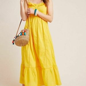 Anrthropologie Maeve Arcadia Lace Yellow Dress XS